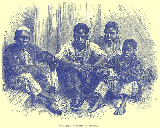 Civilised Negroes of Goree. Illustration from Illustrated Travels edited by H W Bates (Cassell, c 1880).