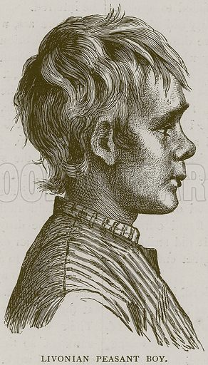 Livonian Peasant Boy. Illustration from Illustrated Travels edited by H W Bates (Cassell, c 1880).