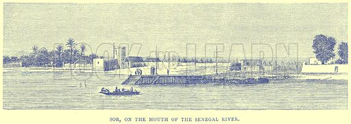 Sor, on the Mouth of the Senegal River. Illustration from Illustrated Travels edited by H W Bates (Cassell, c 1880).