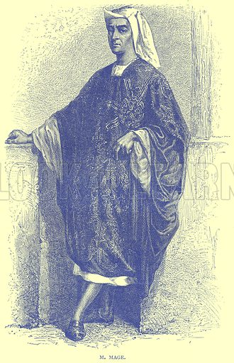 M. Mage. Illustration from Illustrated Travels edited by H W Bates (Cassell, c 1880).