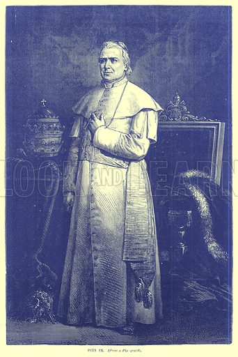 Pius IX. Illustration from Illustrated Travels edited by H W Bates (Cassell, c 1880).