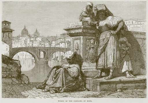 Women of the Campagna at Rome. Illustration from Illustrated Travels edited by HW Bates (Cassell, c 1880).