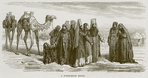 A Bokharian Bride. Illustration from Illustrated Travels edited by H W Bates (Cassell, c 1880).