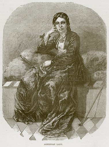 Armenian Lady. Illustration from Illustrated Travels edited by HW Bates (Cassell, c 1880).