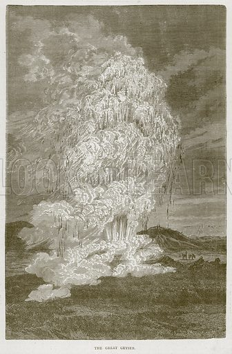 The Great Geyser. Illustration from Illustrated Travels edited by H W Bates (Cassell, c 1880).