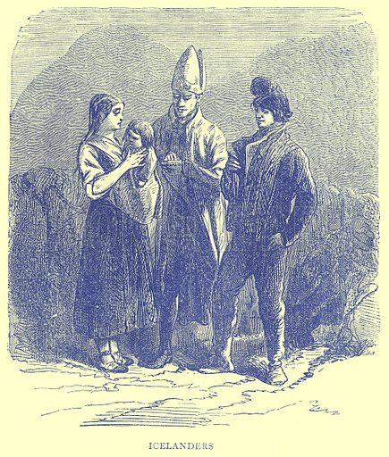 Icelanders. Illustration from Illustrated Travels edited by H W Bates (Cassell, c 1880).