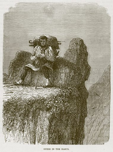 Guide in the Hartz. Illustration from Illustrated Travels edited by H W Bates (Cassell, c 1880).