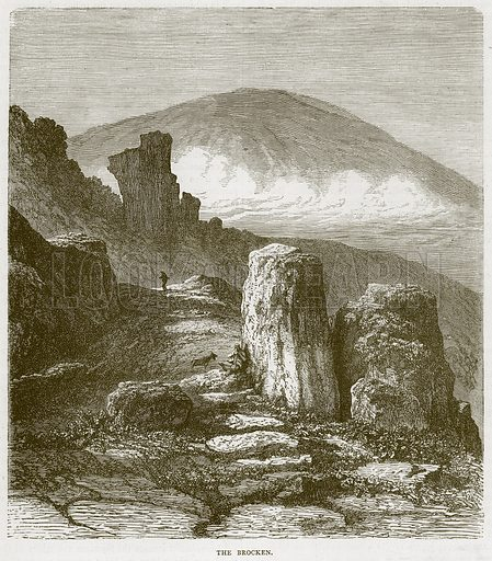 The Brocken. Illustration from Illustrated Travels edited by H W Bates (Cassell, c 1880).
