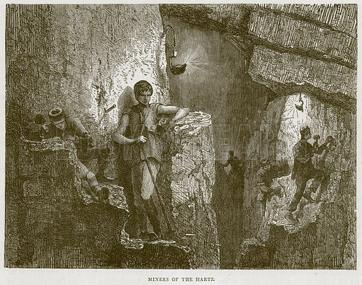 Miners of the Hartz. Illustration from Illustrated Travels edited by HW Bates (Cassell, c 1880).