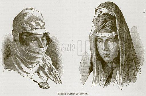 Tartar Women of Erivan. Illustration from Illustrated Travels edited by HW Bates (Cassell, c 1880).