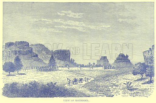 View of Koundian. Illustration from Illustrated Travels edited by H W Bates (Cassell, c 1880).