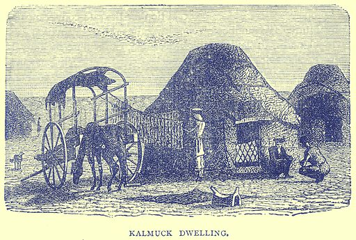 Kalmuck Dwelling. Illustration from Illustrated Travels edited by H W Bates (Cassell, c 1880).