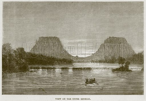 View on the Upper Senegal. Illustration from Illustrated Travels edited by HW Bates (Cassell, c 1880).