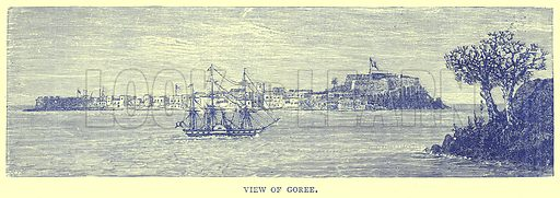 View of Goree. Illustration from Illustrated Travels edited by H W Bates (Cassell, c 1880).
