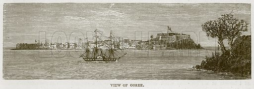 View of Goree. Illustration from Illustrated Travels edited by HW Bates (Cassell, c 1880).