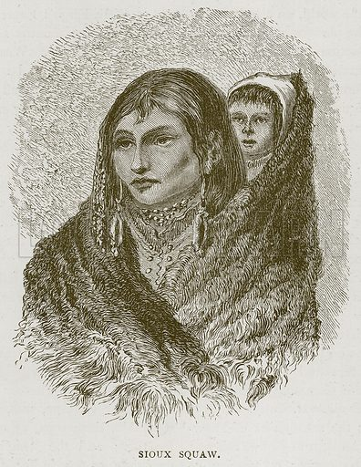 Sioux Squaw. Illustration from Illustrated Travels edited by H W Bates (Cassell, c 1880).