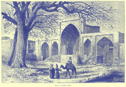 Tomb of Nadir Shah. Illustration from Illustrated Travels edited by H W Bates (Cassell, c 1880).
