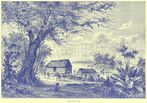 Lake Tale Sap. Illustration from Illustrated Travels edited by H W Bates (Cassell, c 1880).