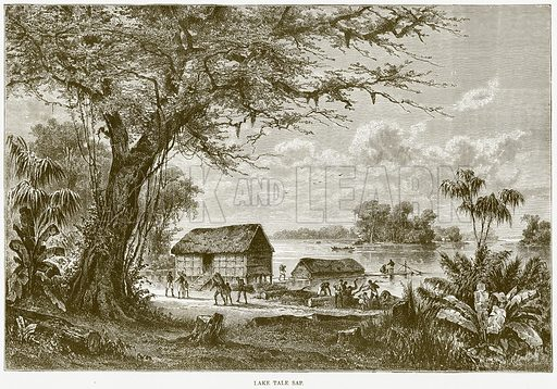Lake Tale Sap. Illustration from Illustrated Travels edited by HW Bates (Cassell, c 1880).