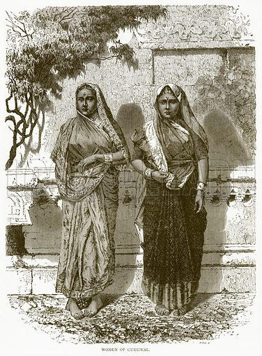 Women of Gurhwal. Illustration from Illustrated Travels edited by H W Bates (Cassell, c 1880).