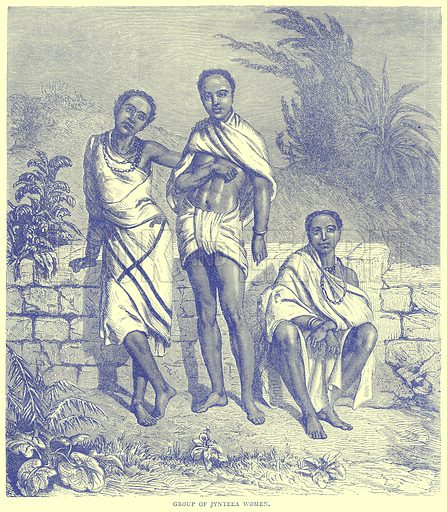 Group of Jynteea Women. Illustration from Illustrated Travels edited by H W Bates (Cassell, c 1880).