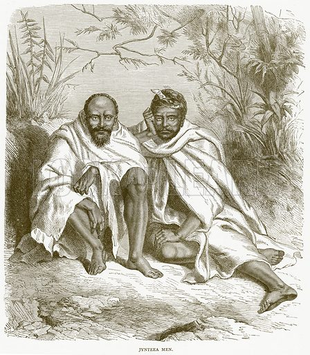 Jynteea Men. Illustration from Illustrated Travels edited by HW Bates (Cassell, c 1880).