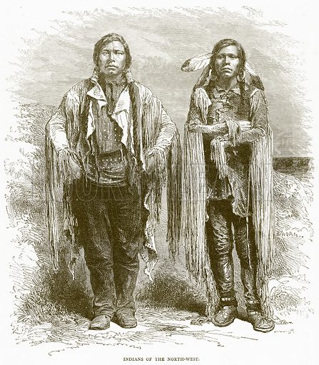 Indians of the North-West. Illustration from Illustrated Travels edited by H W Bates (Cassell, c 1880).