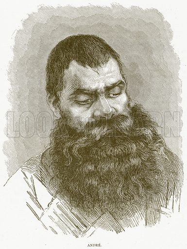 Andre. Illustration from Illustrated Travels edited by H W Bates (Cassell, c 1880).
