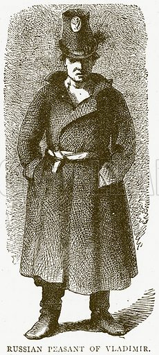 Russian Peasant of Vladimir. Illustration from Illustrated Travels edited by H W Bates (Cassell, c 1880).