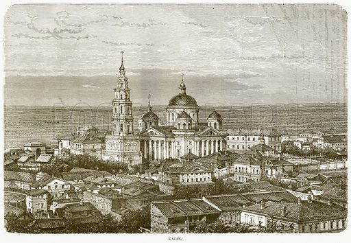 Kazan. Illustration from Illustrated Travels edited by H W Bates (Cassell, c 1880).