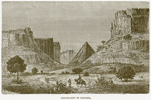 Travelling in Soolima. Illustration from Illustrated Travels edited by H W Bates (Cassell, c 1880).