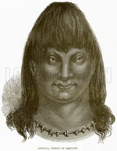 Chibula, Indian of Eketche. Illustration from Illustrated Travels edited by H W Bates (Cassell, c 1880).