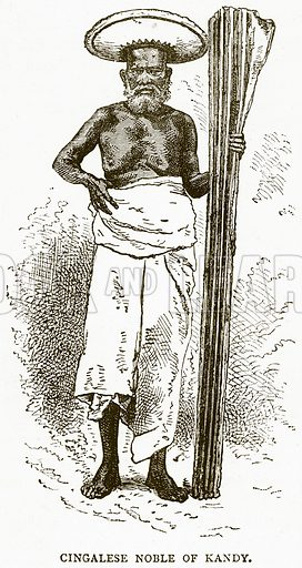 Cingalese Noble of Kandy. Illustration from Illustrated Travels edited by H W Bates (Cassell, c 1880).