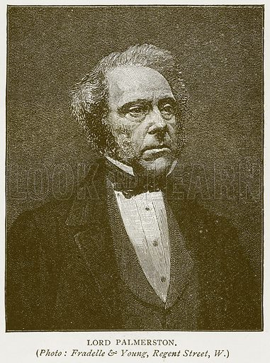 Lord Palmerston. Illustration for History of England by HO Arnold-Forster (Cassell, 1897).