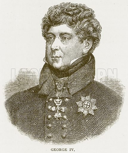 George IV. Illustration for History of England by HO Arnold-Forster (Cassell, 1897).