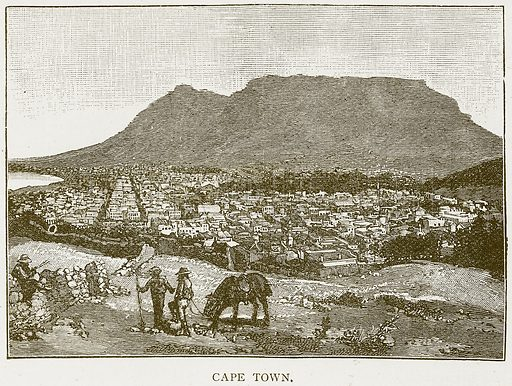 Cape Town. Illustration for History of England by HO Arnold-Forster (Cassell, 1897).