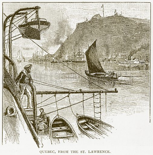 Quebec, from the St Lawrence. Illustration for History of England by HO Arnold-Forster (Cassell, 1897).