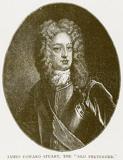 "James Edward Stuart, the ""Old Pretender."" Illustration for History of England by HO Arnold-Forster (Cassell, 1897)."