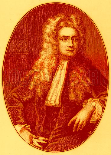 Sir Isaac Newton. Illustration for History of England by H O Arnold-Forster (Cassell, 1897).