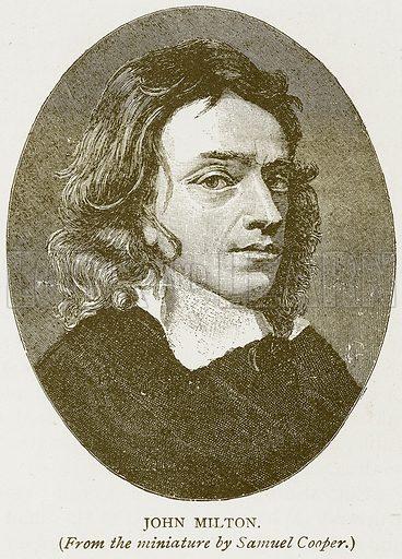 John Milton. Illustration for History of England by HO Arnold-Forster (Cassell, 1897).