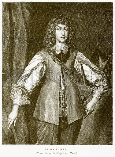 Prince Rupert. Illustration for History of England by HO Arnold-Forster (Cassell, 1897).
