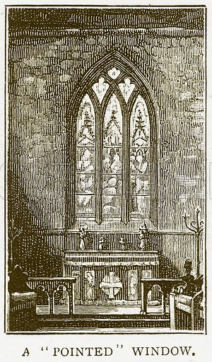 "A""Pointed"" Window. Illustration for History of England by HO Arnold-Forster (Cassell, 1897)."