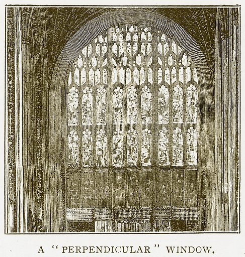 """A""""Perpendicular"""" Window. Illustration for History of England by HO Arnold-Forster (Cassell, 1897)."""