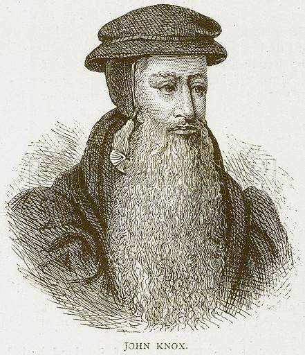 John Knox. Illustration for History of England by HO Arnold-Forster (Cassell, 1897).