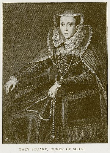 Mary Stuart, Queen of Scots. Illustration for History of England by HO Arnold-Forster (Cassell, 1897).