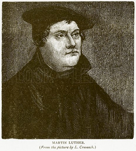 Martin Luther. Illustration for History of England by HO Arnold-Forster (Cassell, 1897).