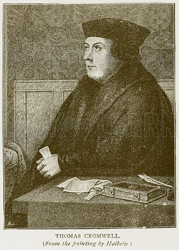 Thomas Cromwell. Illustration for History of England by HO Arnold-Forster (Cassell, 1897).
