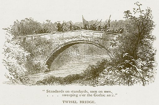 Twisel Bridge. Illustration for History of England by HO Arnold-Forster (Cassell, 1897).
