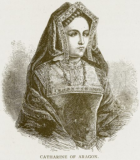 Catharine of Aragon. Illustration for History of England by HO Arnold-Forster (Cassell, 1897).