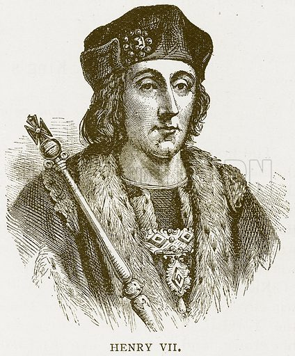 Henry VII. Illustration for History of England by HO Arnold-Forster (Cassell, 1897).